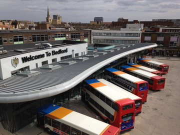 The new Bedford Bus Station in operation
