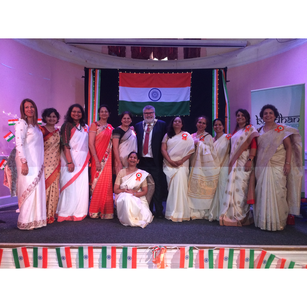 Mayor Dave Hodgson joins the celebrations on India Independence Day in Bedford