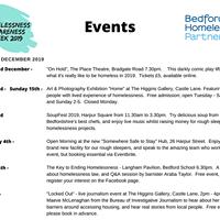 Homelessness Awareness Week events 2019